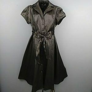 Liz Claiborne sz 14w metallic grey stretch dress